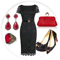 С чем носить маленькое черное платье