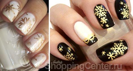 Дизайн ногтей зимние узоры фото