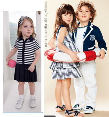 Детская одежда в морском стиле