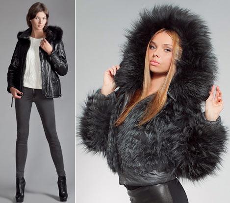 Женские зимние модные куртки 2012, фото