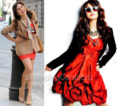 Модные красные платья 2017, фото