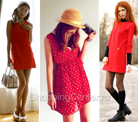 Короткие красные платья 2017, фото