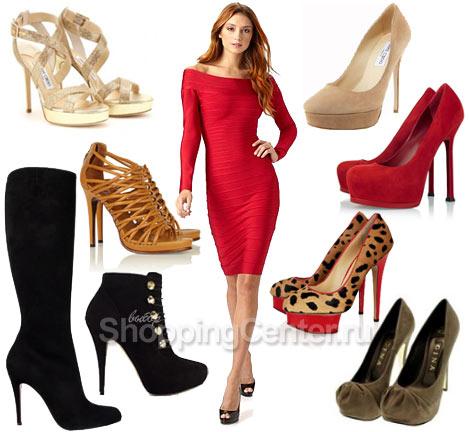 Красное платье и обувь, фото
