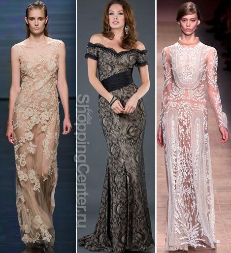 Кружевные вечерние платья