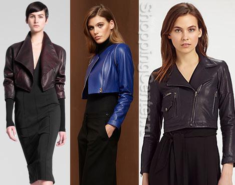 Модные кожаные куртки 2017, фото