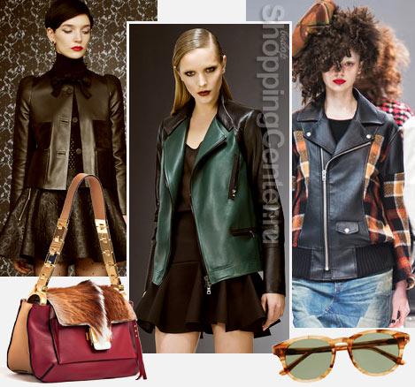 Женские кожаные куртки 2018, фото