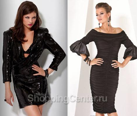 Вечерние маленькие черные платья 2018, фото