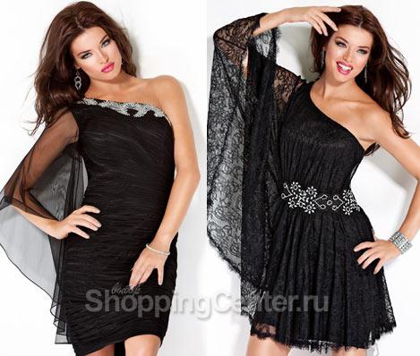 Короткие черные платья 2018, фото