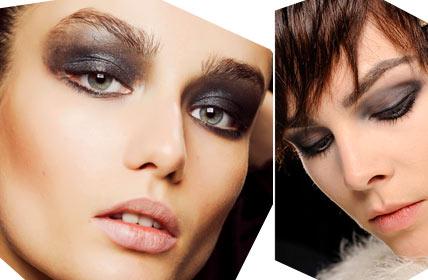 Драматический макияж глаз. На фото макияж: Donna Karan, Marc Jacobs