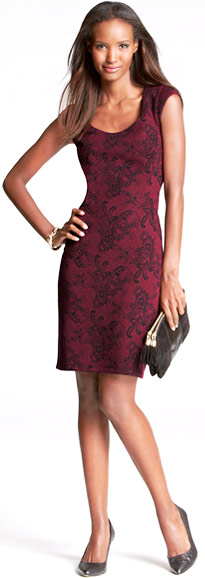 Платье-футляр с узором
