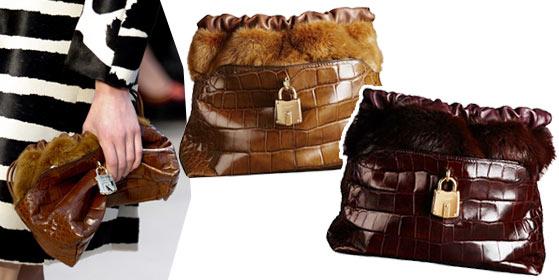 Модные сумки Burberry Prorsum носят в руке