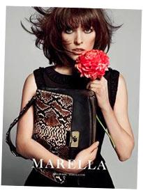 Модная сумка из коллекции Marella. На фото: Милла Йовович