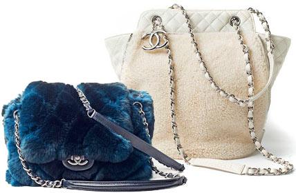 Пушистые сумки Chanel