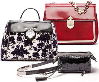 Модные сумки из коллекций Tory Burch и Salvatore Ferragamo