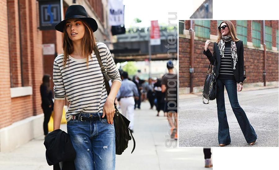 С чем носить джинсы, фото