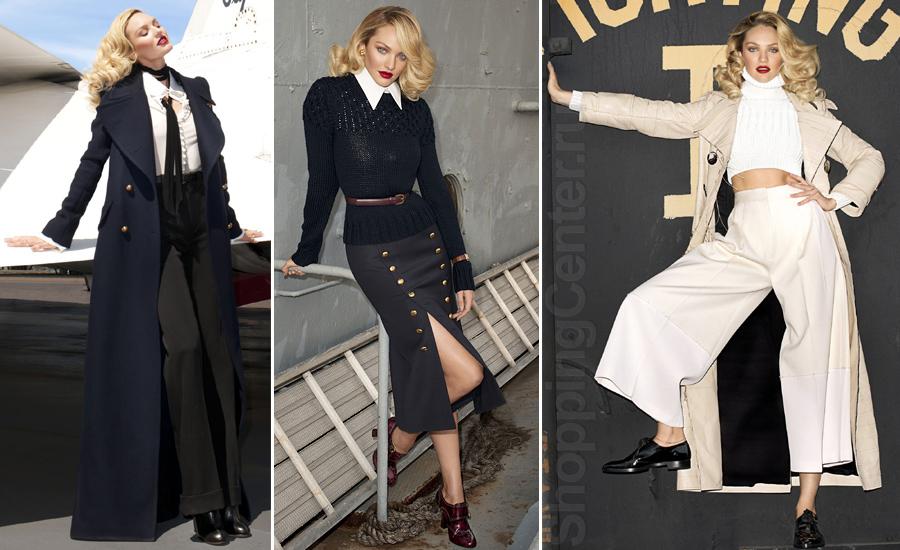 Модная осень, на фото модель Candice Swanepoel