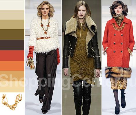 Мода. Осень, Зима 2012. Модные цвета. Фото