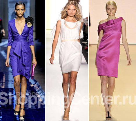 Шелковое вечернее платье длиной выше уровня колен - то, что надо.