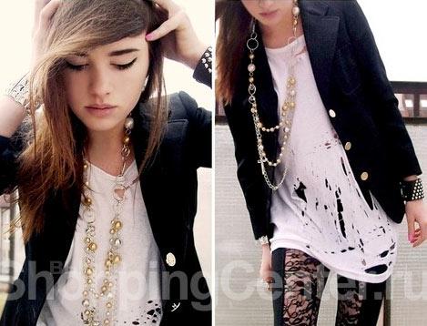 Молодежная одежда в стиле гранж, фото