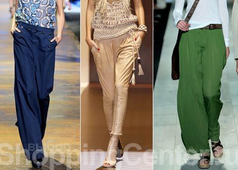 Мода. Весна 2018, Лето 2018. Модная одежда, брюки. Фото