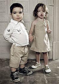 Красивые дети в модной одежде 34