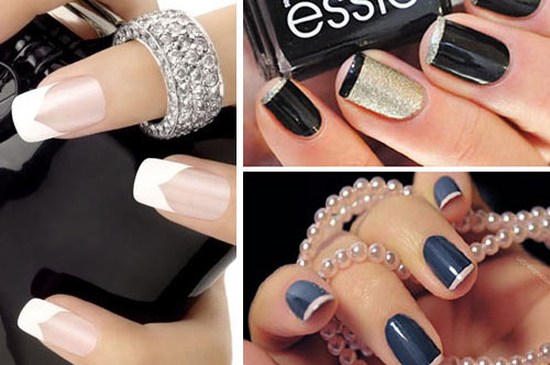Френч на ногтях: 8 самых модных вариантов +55 фото