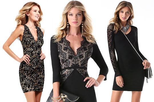 Самые красивые короткие черные платья