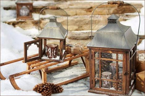 Зимний ландшафтной декор