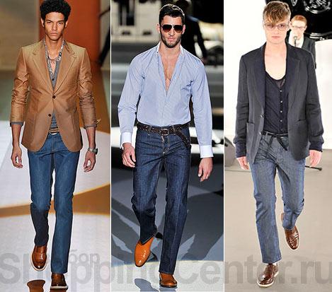 Мужская Мода Брюки