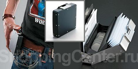 Модная мужская сумка, фото: металлический микрокейс на ремне вполне...