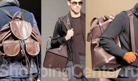 Модные мужские сумки, фото: кожаный рюкзак Bottega Venetta...