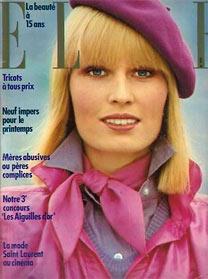 Одежда в стиле 70-х годов. Фото с обложки журнала Elle, 1974 год, модель Gunilla Lindblad