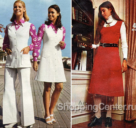 Стиль 70-х годов, платья, фото
