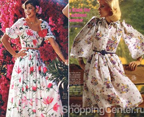 Платья 70-х годов, фото