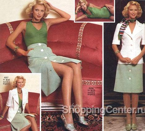 Стиль 70-х годов, юбки и рубашки, фото