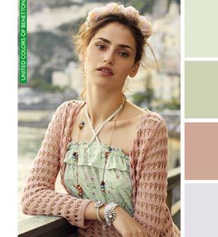 Сочетание цветов в одежде, Benetton
