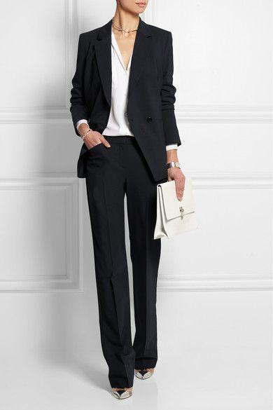 Стиль деловой женщины, брючный костюм