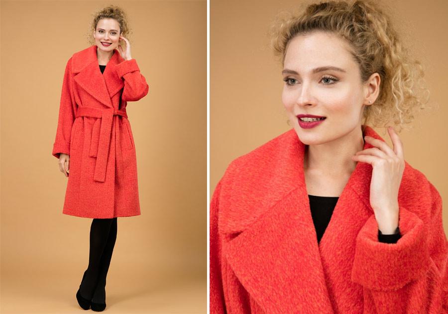 Теплое пальто на осень