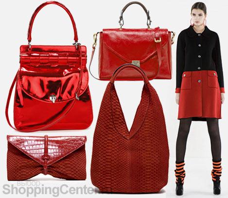 На фото модные сумки 2012: блестящая сумка Versace, сумка Mulberry...