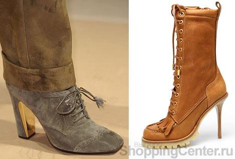 Модная обувь 2010: ботинки и ботильоны. Женская обувь