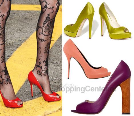 Модная обувь 2011. Женские туфли на каблуке