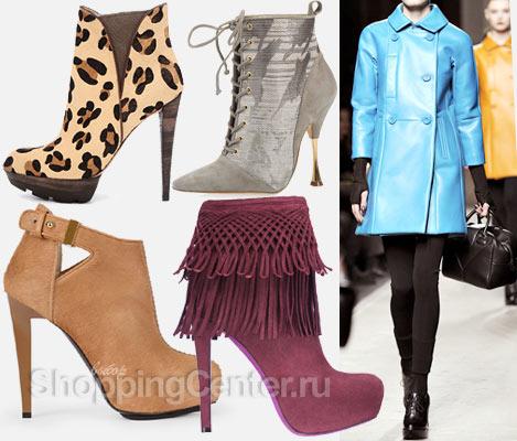 Модная обувь 2017. Модные женские ботильоны