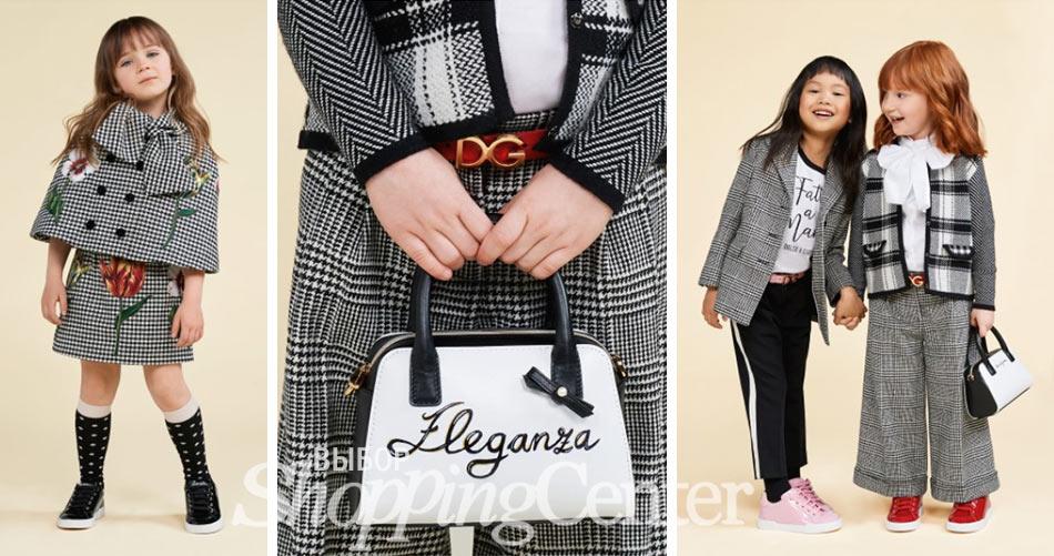 Детская мода для девочек, осень 2019. Фото из коллекции Dolce & Gabbana