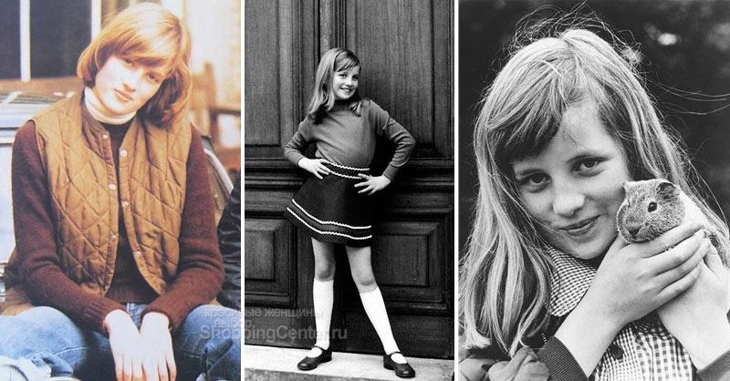 На фото: Диана в детстве