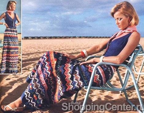 В 70-х были популярны длинные юбки с орнаментом