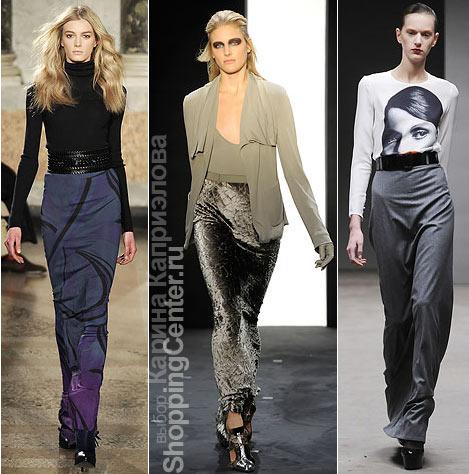 На фото юбки из коллекций: Emilio Pucci, Rachel Roy, Richard Nicoll