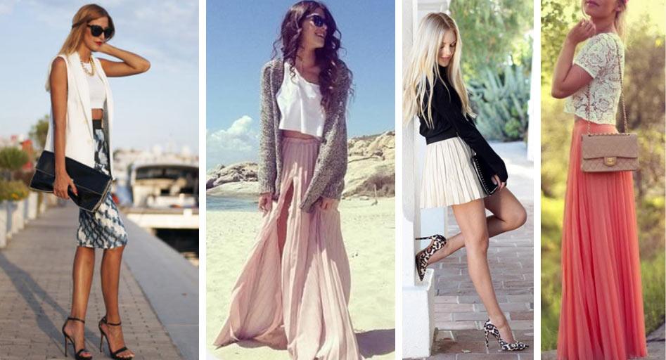 Юбки разной длины и примеры, с чем их носить