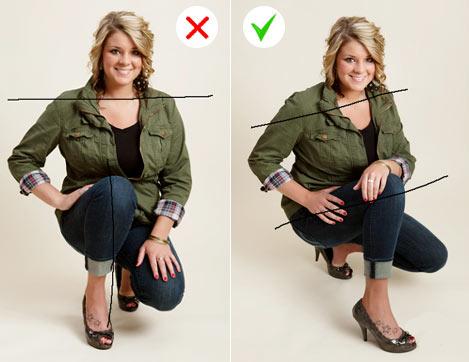 """Как правильно фотографироваться. Избегай """"прямых"""" поз"""