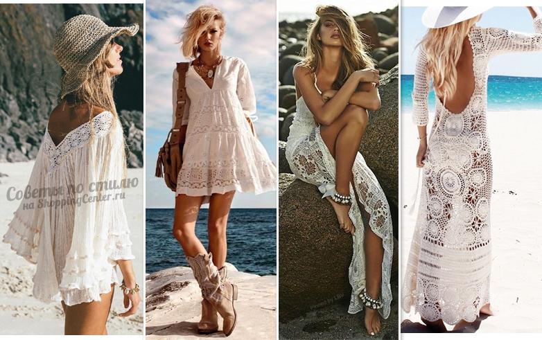 Кружевные белые платья - романтика и свобода!