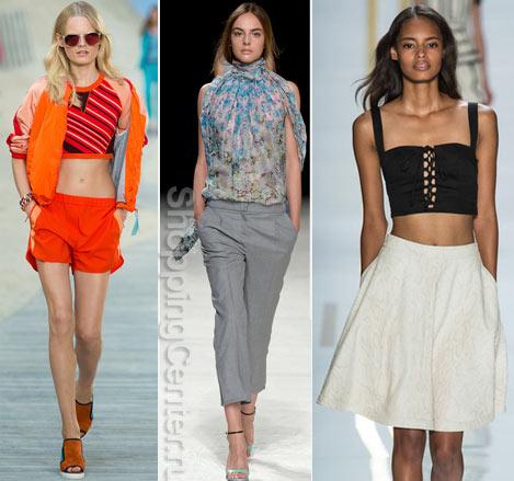 Фото топов из модных летних коллекций: Tommy Hilfiger, Nina Ricci, Diane von Furstenberg
